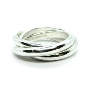 Auth Tiffany & Co triple band ring sz 5 sterling